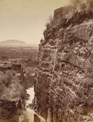 East Scarp of Dowlatabad Fort.